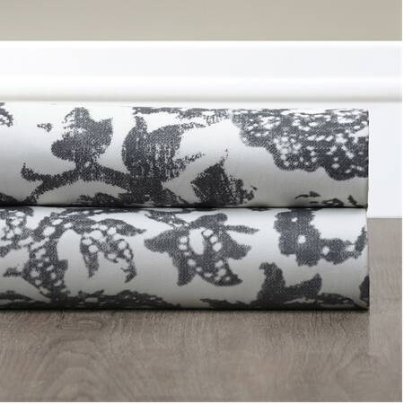 Edina Grey Printed Cotton Fabric