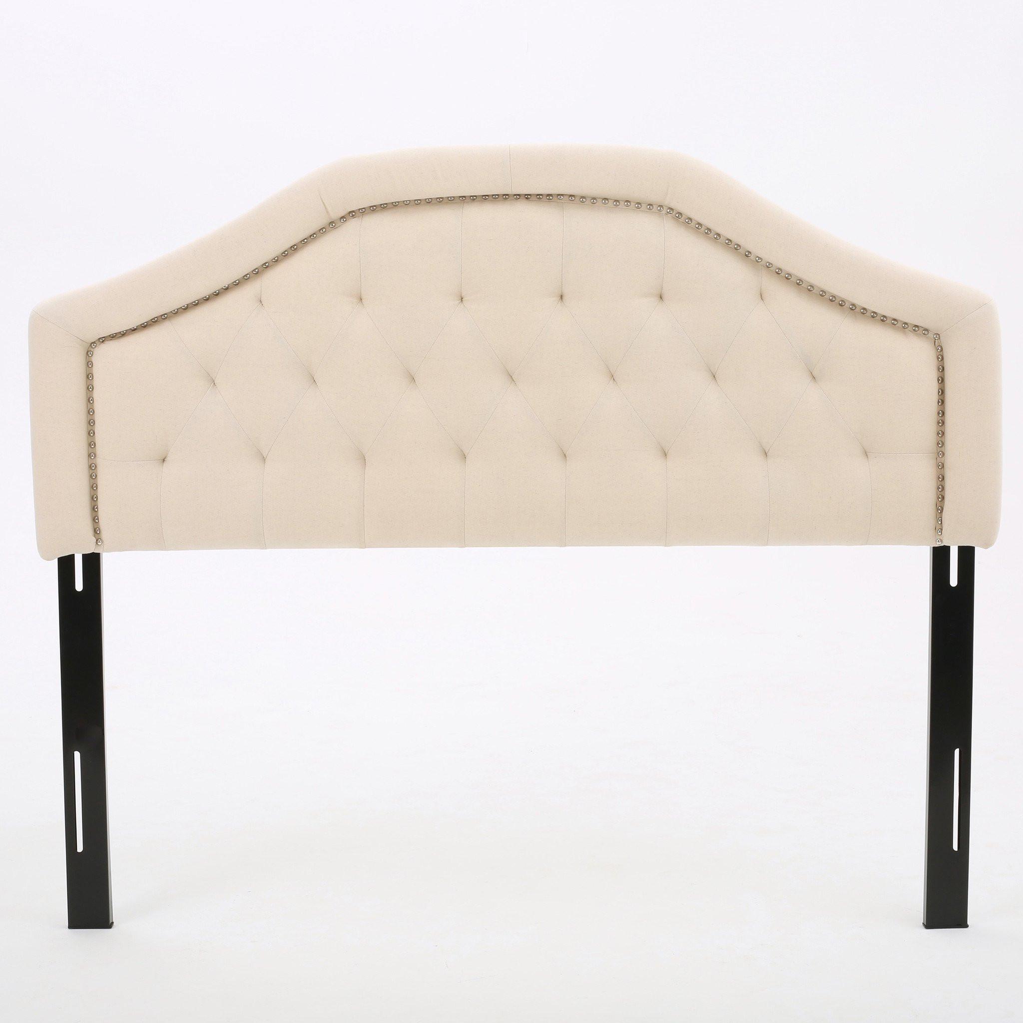 Maizyl Beige Fabric Queen/Full Headboard