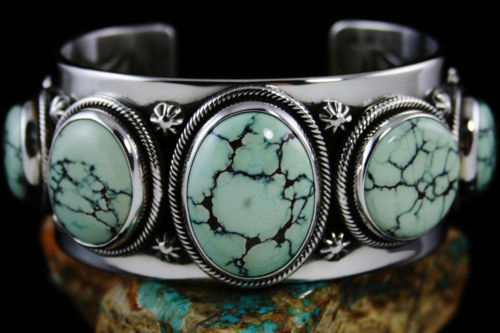 Ned Nez Colorback Spiderweb Variscite Row Bracelet...