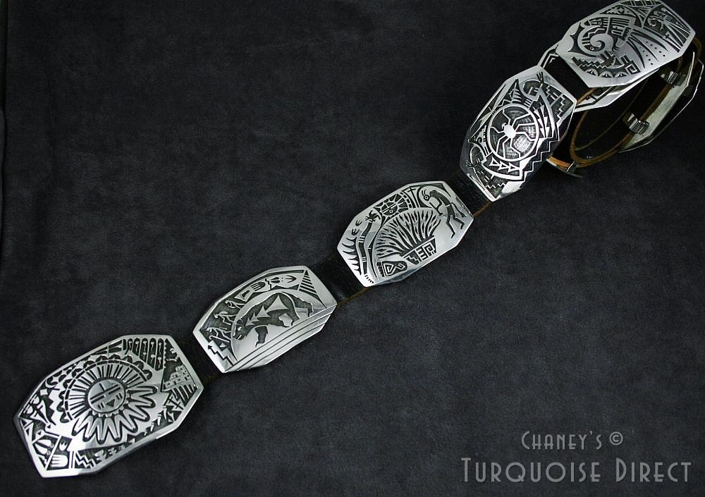"""Chalmers Day """"The Emergence"""" Overlay Concho Belt 