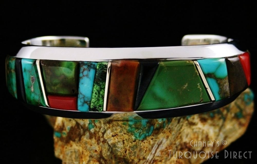Wes Willie Royston Turquoise Solid 14K Gold Over S...
